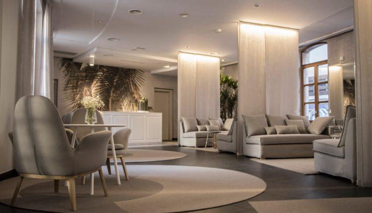 Decoración interiores y recepción balneario Alameda